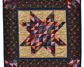 Star City Quilt - Reproduction fabrics, traditional style quilt