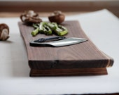 Walnut Cutting Board Natural Edge Serving Tray Eco Friendly