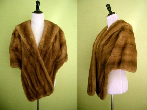 RESERVE 60's Autumn Haze Mink Stole/Wrap by Peltz Furs Baltimore
