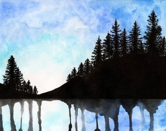 "Canadian Forest Watercolour Print 5"" x 7"" - Paint the Moment"