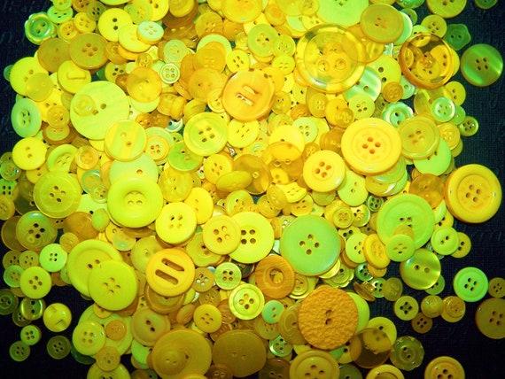 50 Yellow Buttons Black Friday Christmas Buttons Bulk Buttons Craft Buttons Easter Buttons Summer Spring Buttons Button Jewelry Button Craft