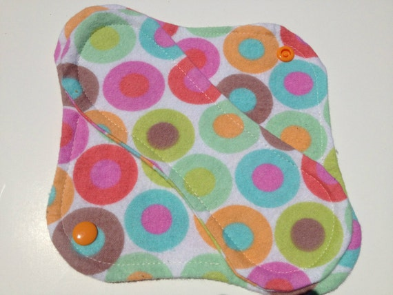 Reusable Cloth Panty Liner Pastel Circles