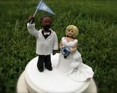 Custom people wedding cake topper