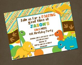 Dinosaurs Birthday Invitations You PRINT