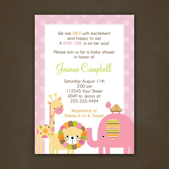 items similar to jungle baby shower invitations printable on etsy
