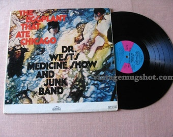 Rare Psych era Lp  Vinyl  Record The Eggplate That Ate Chicago Dr. Wests Medicine Show and Junk band