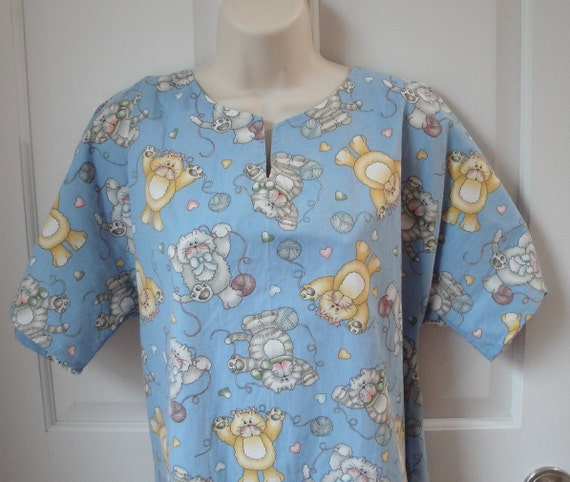 SALE - M - Nursing Gown / Post Surgery Sleepwear - Breast Cancer , Shoulder Surgery / Hospital / Adaptive Clothing- Style: Erin