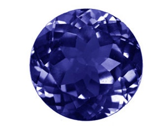 3 mm Round Faceted Iolite 5 piece Lot AAA Grade