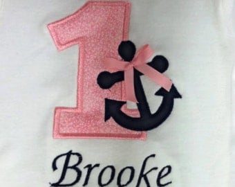 Girls Nautical Birthday Tee- 9M to 5T