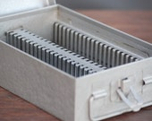 Vintage Steel 50 Slide File Box