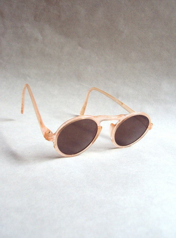 1930s 40s Shell pink celluloid sunglasses - Childrens