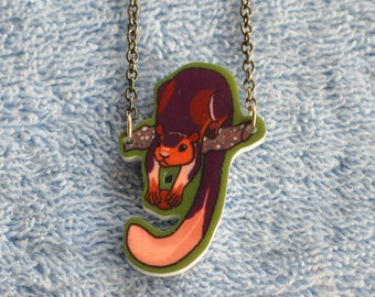 Indian Giant Squirrel acrylic charm necklace