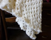 Cream-colored Soft Baby Afghan