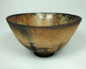 Wheel-Thrown Stoneware Bowl With Oxide and Pencil  Detail