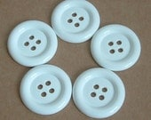 Lot of 5 Buttons - 1.5 inch White