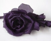 Large Chiffon Rose - Purple