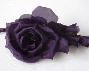 Large Chiffon Rose - Purple
