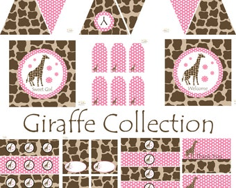 Giraffe Birthday Party, Giraffe Baby Shower, Giraffe Birthday Decorations, Giraffe Baby Shower Decorations, Giraffe Party Decorations