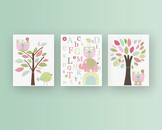 Wall Decor For A Baby Girl Nursery : Girl nursery d?cor art baby wall