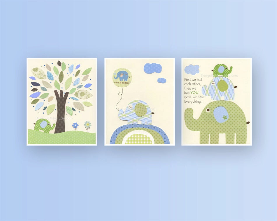 Baby Boy Nursery Wall Art Baby Boy Decor Boy By DesignByMaya