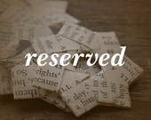 Reserved listing for owlet1978.