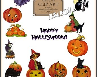 INSTANT DOWNLOAD Halloween Clip Art Collection No.255