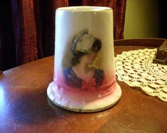 Victorian Lady Owen Minerva Antique Stein