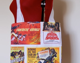 Retro Sci-Fi and Horror Movie Posters Tote Bag