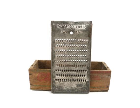 Wonder Shredder - vintage kitchen grater for decor or repurpose