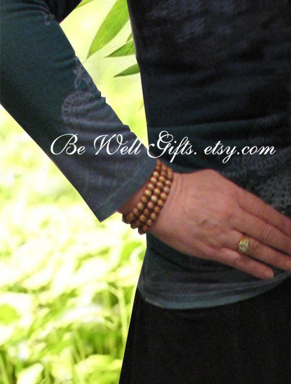 Wrist Wrap Meditation Mala, Meditation Focus Jewelry