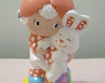 Vintage Strawberry Shortcake Ceramic Apricot And Hopsalot Figure