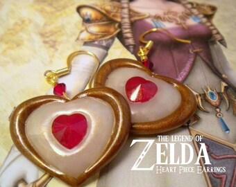 Twilight Princess Heart Piece Earrings - Legend of Zelda - Nintendo