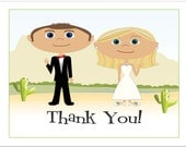 Desert Wedding Thank You Notes