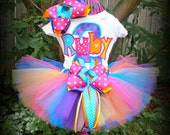 Custom Fresh Beat Band Colors 4 Piece Boutique Style 1st, 2nd, 3rd, 4th, 5th Birthday SEWN Tutu Outfit You CHOOSE COLORS