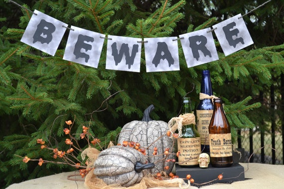 Beware Banner  ....  Halloween  ...   Fall   ...   Halloween party