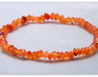 Gemstone Bracelet - Carnelian Bracelet, Bead Bracelet, Gemstone Jewelry