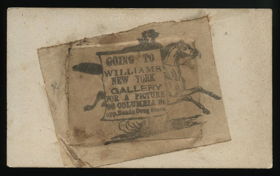 Civil War Era Tintype Photo of Little Girl / Williams NY /  Great Uncommon Advertising