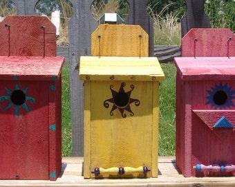 Blue bird house, blue bird houses, bird houses, cedar bird house, handmade bird houses