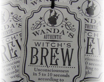 Wanda's Witch's Brew - Spell - Potion - Magic - Halloween Tags (6)