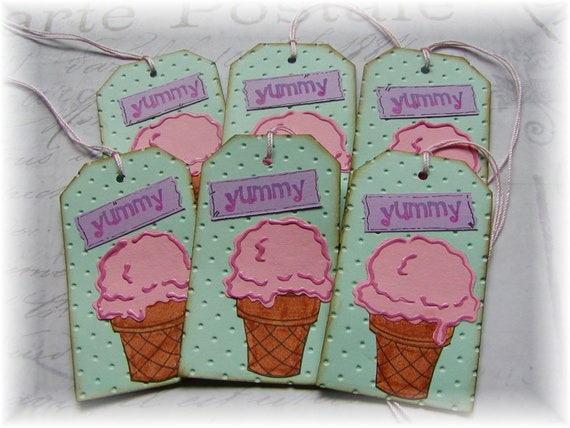 Yummy Ice Cream Cone Tags (6)