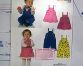 Baby pinafore and overalls New Look pattern 6768