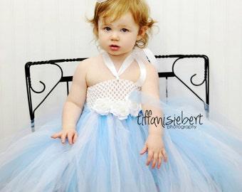 Baby Tutu, Tutu Dress- Infant Tutu- Flower Girl Dress- Baby Costume- Light Blue Tutu- Photo Prop- Available In Size 0-24 Months