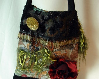 Shoulder Bag, Gypsy, Recycled, Boho Gypsy, Bohemian