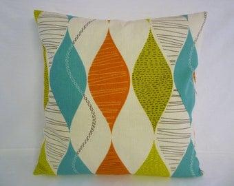 "BIG 22x22"" Pillow Orange Green Blue Designer Cotton Cushion Cover Pillowcases Shams Slips"