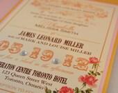 Printable PDF Vintage Wedding Invitations for the DIY Bride