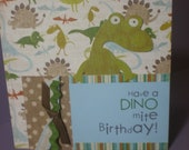 Handmade Birthday card- Dinosaur