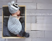 Renny Raccoon Cuddle Cape Set  Newborn Photography Prop