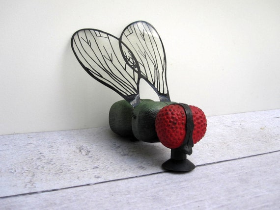 Spooky Halloween Creature - Giant Fly on the Wall Decoration