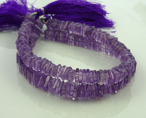 Pretty amethyst square heshi beads 5-5.5mm 1/2 strand