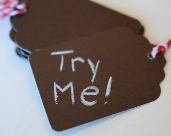 Chalkboard Tags Reusable Labels Reusable Black Gift Tags